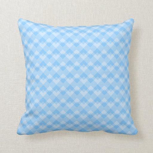 Modelo geométrico azul claro cojines