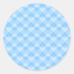 Modelo geométrico azul claro pegatina redonda
