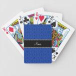 Modelo geométrico azul conocido personalizado de l baraja de cartas