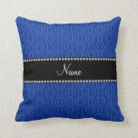 Modelo geométrico azul conocido personalizado de l almohada