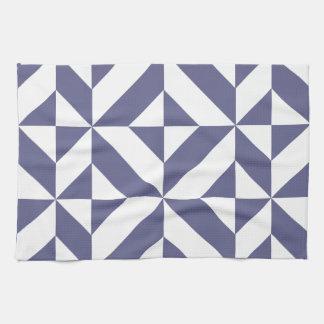 Modelo geométrico azul de medianoche del cubo de toalla de cocina