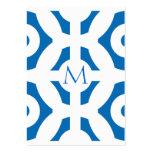 Modelo geométrico azul del deslumbramiento plantilla de tarjeta de visita