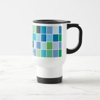 Modelo geométrico azul del trullo tazas de café