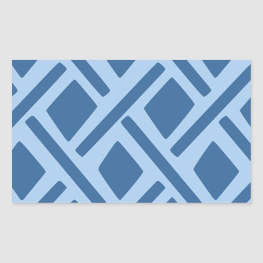 Modelo geométrico azul rectangular pegatinas