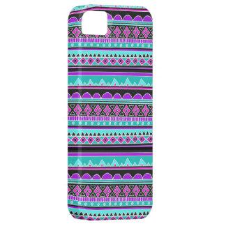 Modelo geométrico azul y púrpura eléctrico iPhone 5 Case-Mate cobertura