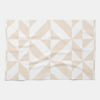 Modelo geométrico beige pálido del cubo de Deco Toalla De Mano