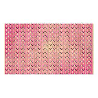 Modelo geométrico beige rosado colorido enrrollado tarjetas de visita