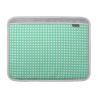Modelo geométrico blanco de la verde menta simple fundas para macbook air