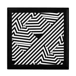 Modelo geométrico blanco y negro de moda de las caja de joyas
