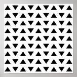 Modelo geométrico blanco y negro de triángulos impresiones