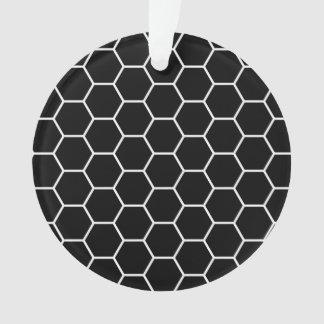 Modelo geométrico blanco y negro del hexágono