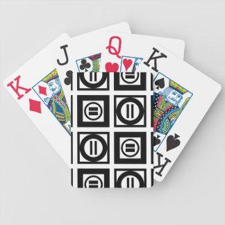 Modelo geométrico blanco y negro del signo de baraja cartas de poker