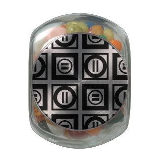 Modelo geométrico blanco y negro del signo de jarrones cristal
