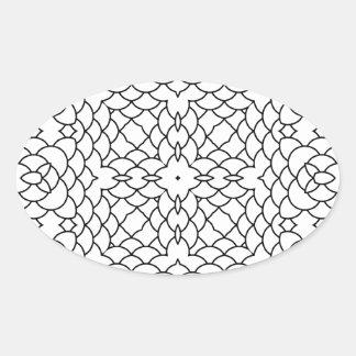 Modelo geométrico blanco y negro colcomanias de ovaladas