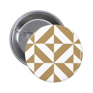 Modelo geométrico caliente del cubo de Brown Deco Pin Redondo 5 Cm