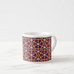 Modelo geométrico chino colorido taza espresso
