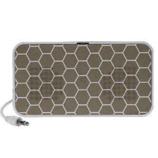 Modelo geométrico coloreado piedra neutral del pan iPod altavoz