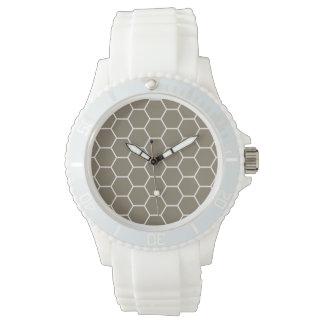 Modelo geométrico coloreado piedra neutral del relojes de mano