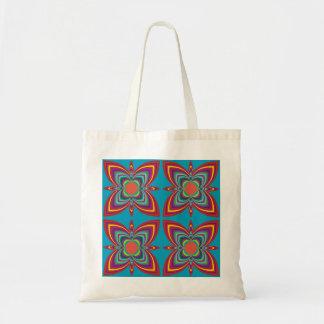 Modelo geométrico colorido bolsa tela barata