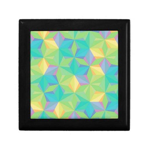 Modelo geométrico colorido caja de joyas