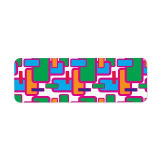 Modelo geométrico colorido de la placa de circuito etiqueta de remite