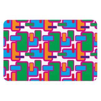 Modelo geométrico colorido de la placa de circuito imán