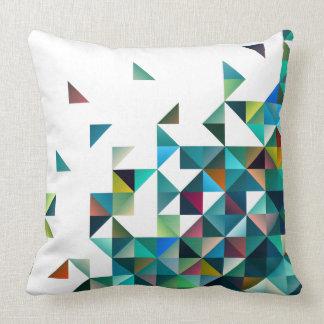 Modelo geométrico colorido de los triángulos de cojin