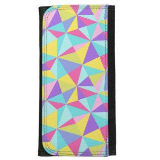 Modelo geométrico colorido en colores pastel