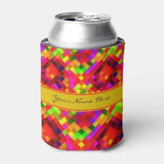 Modelo geométrico colorido enrrollado moderno enfriador de latas