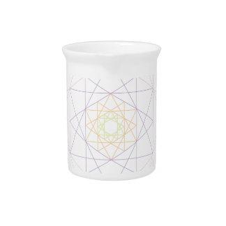 Modelo geométrico colorido jarrones