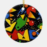 Modelo geométrico colorido moderno adorno para reyes