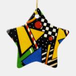 Modelo geométrico colorido moderno ornamento de navidad