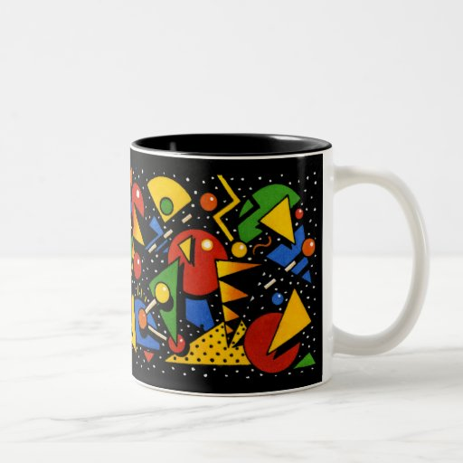 Modelo geométrico colorido moderno tazas de café