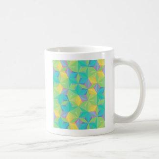 Modelo geométrico colorido taza básica blanca