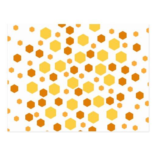 Modelo geométrico con amarillo y Brown Postal