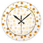 Modelo geométrico con amarillo y Brown Relojes De Pared