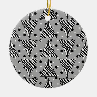 Modelo geométrico con las rayas y los puntos de la adornos de navidad