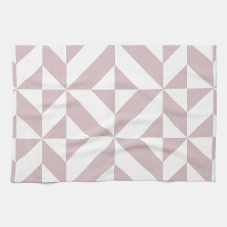Modelo geométrico de color de malva del cubo de toallas de mano