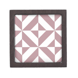 Modelo geométrico de color de malva oscuro del cajas de regalo de calidad