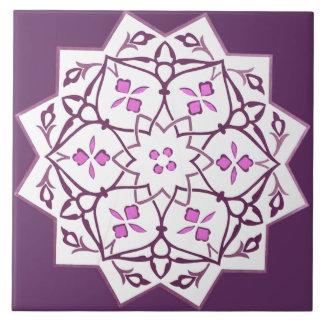 Modelo geométrico de la forma de la estrella del v azulejo cuadrado grande