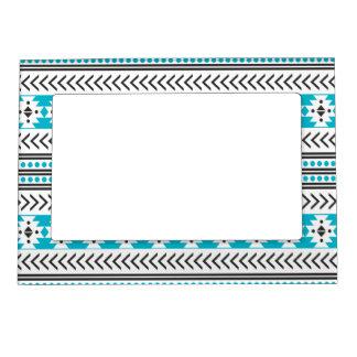 Modelo geométrico de la impresión tribal azteca de marcos magneticos para fotos