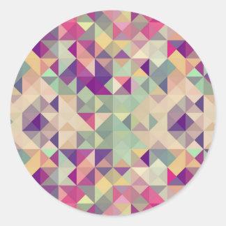 Modelo geométrico de los inconformistas del pegatina redonda