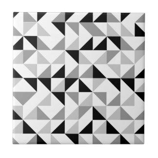 Modelo geométrico de los triángulos azulejo cuadrado pequeño