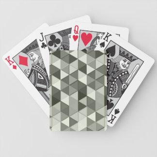 Modelo geométrico de los triángulos frescos del baraja de cartas bicycle