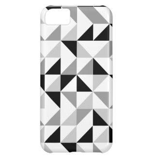 Modelo geométrico de los triángulos funda para iPhone 5C