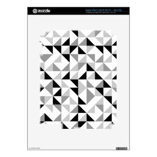 Modelo geométrico de los triángulos pegatinas skins para iPad 3