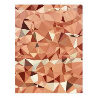 Modelo geométrico de los triángulos rosados del tarjeta postal