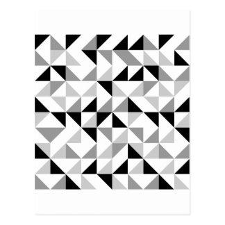 Modelo geométrico de los triángulos tarjetas postales