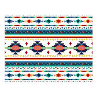 modelo geométrico de Navajo étnico tribal de moda Tarjeta Postal
