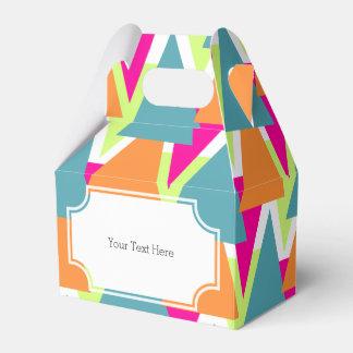 modelo geométrico de neón de los años 80 cajas para regalos